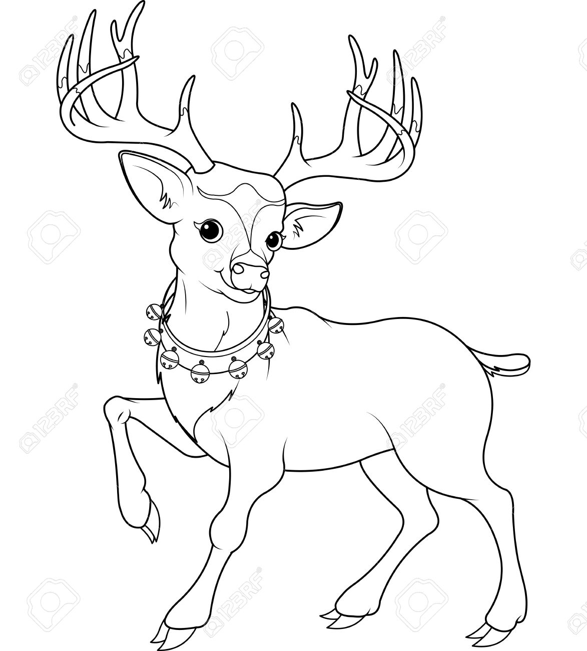 1173x1300 Coloring Page Of Cartoon Reindeer Rudolf Royalty Free Cliparts