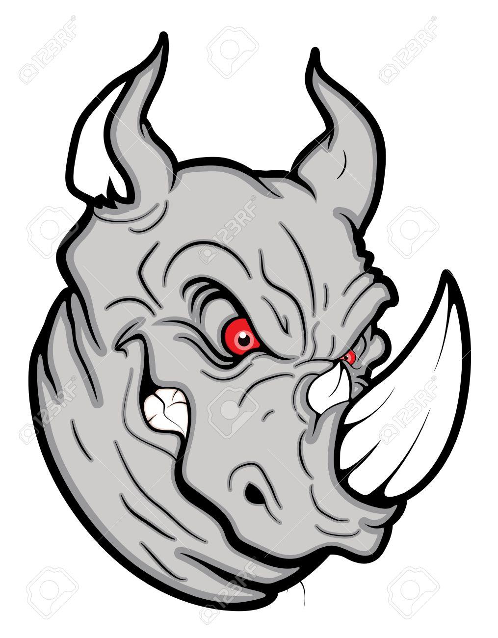 Cartoon Rhino Drawing at GetDrawings com | Free for personal