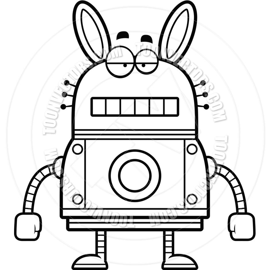 Cartoon Robot Drawing