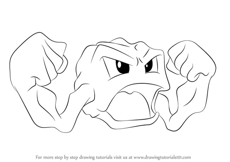 800x566 Learn How To Draw Geodude From Pokemon (Pokemon) Step By Step