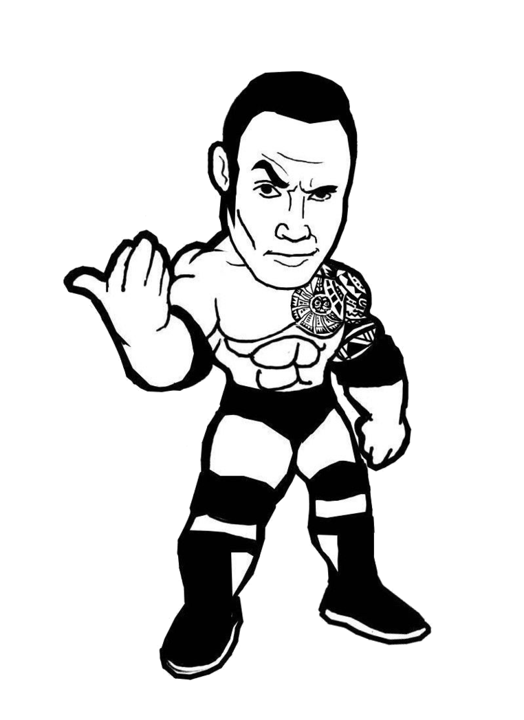762x1048 The Rock Cartoon Png By Undertaker02