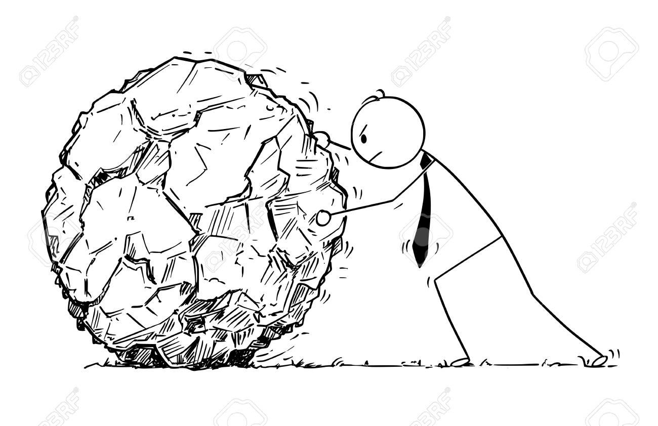1300x842 Cartoon Stick Man Drawing Conceptual Illustration Of Businessman