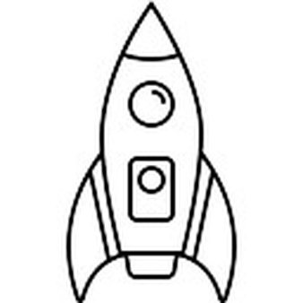 338x338 Drawn Rocket Ship Line
