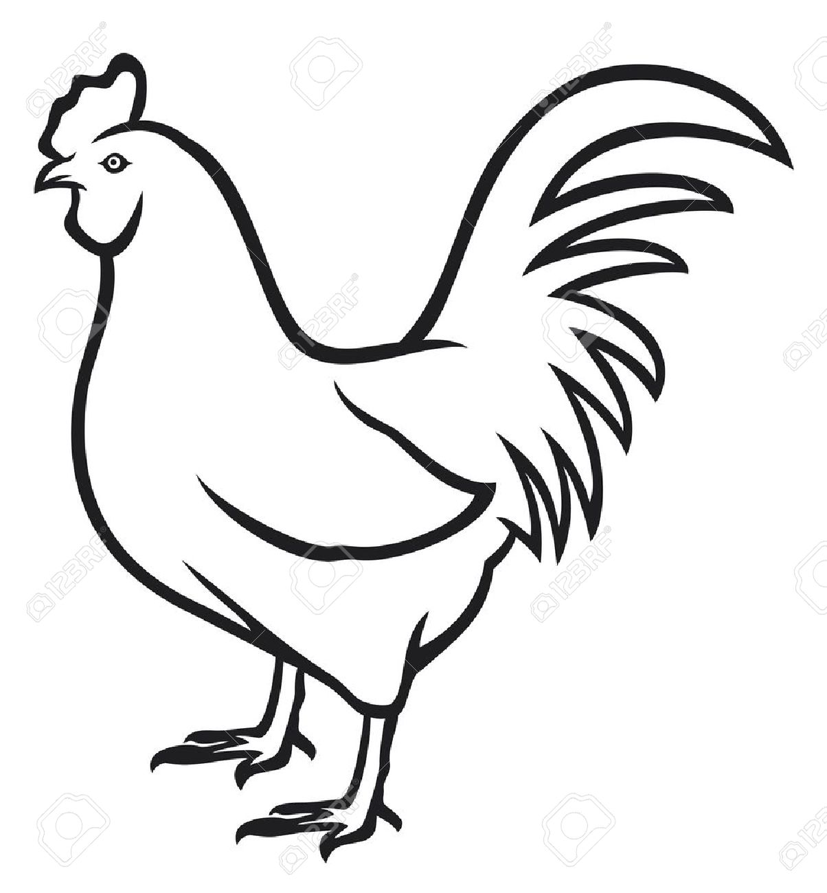 1204x1300 Chicken Clipart Outline