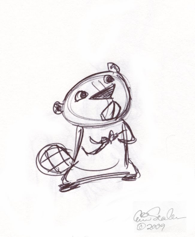 651x791 Cute Little Beaver Sketch By Eric Scales Drawing And Such