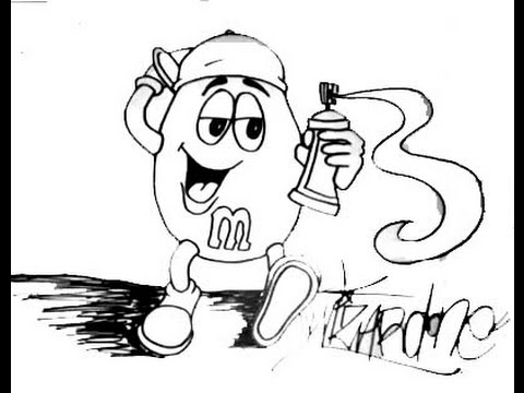 480x360 Lets Learn To Draw Mampms Cartoon Character (Using Sharpi Marker