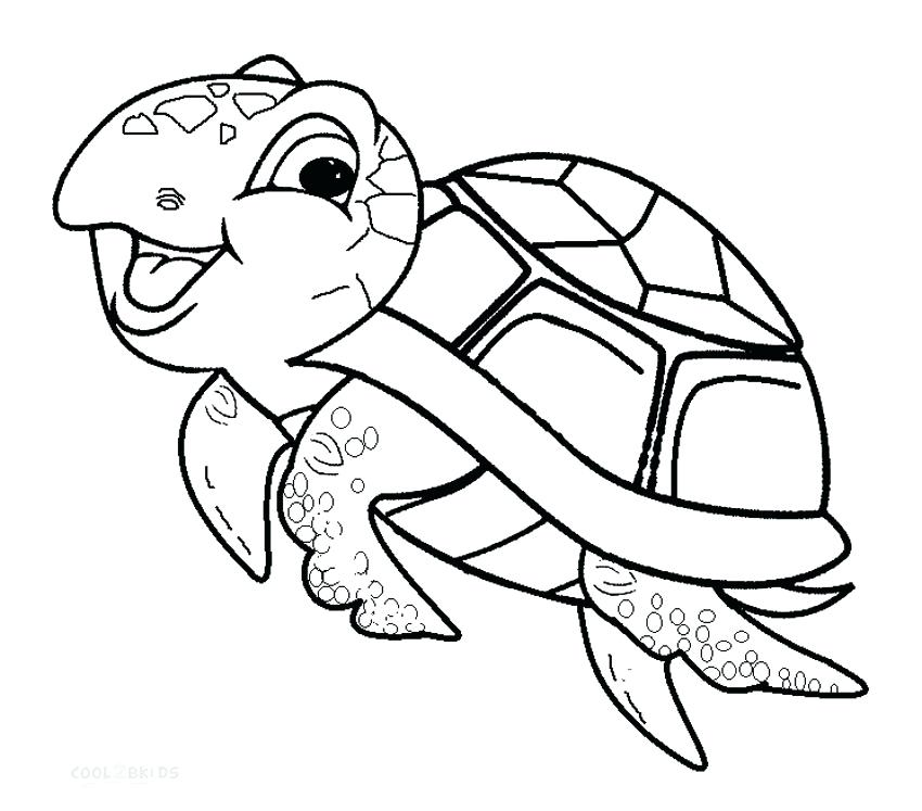 850x747 Free Printable Sea Turtle Coloring Pages