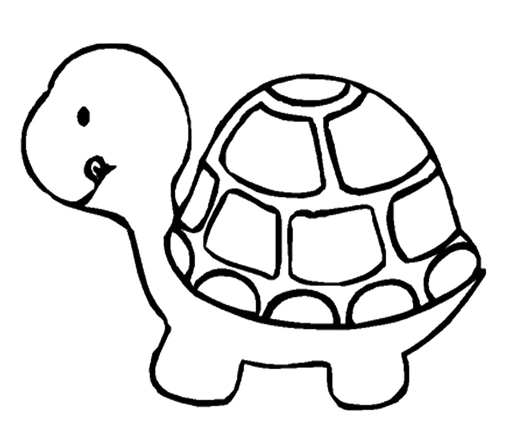 1024x867 Cartoon Turtle Drawing A Drawing Of A Turtle How To Draw A Sea