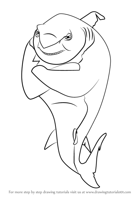 566x800 Learn How To Draw Frankie Lino From Shark Tale (Shark Tale) Step