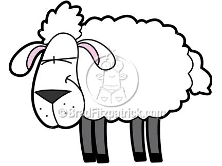 Cartoon Sheep Drawing