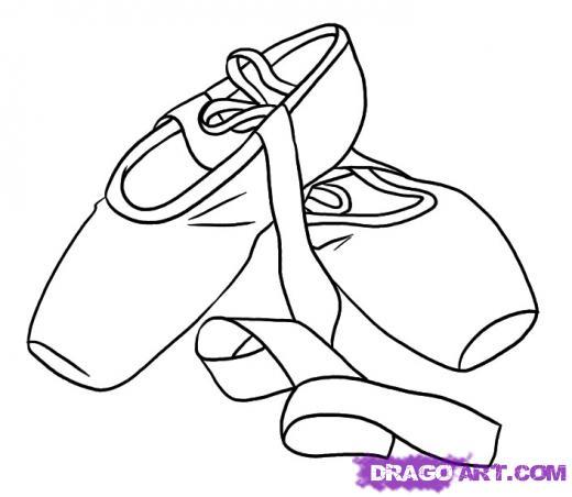 520x452 Pointe Shoes Cartoon