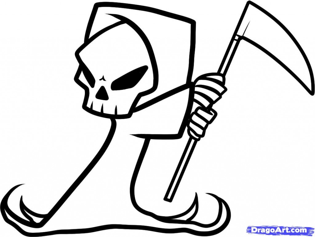 1024x773 Drawing Cool And Easy Skull Drawings As Well As Cool And Easy