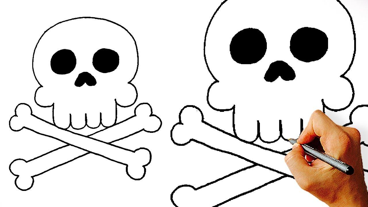 1280x720 How To Draw Cartoon Skull