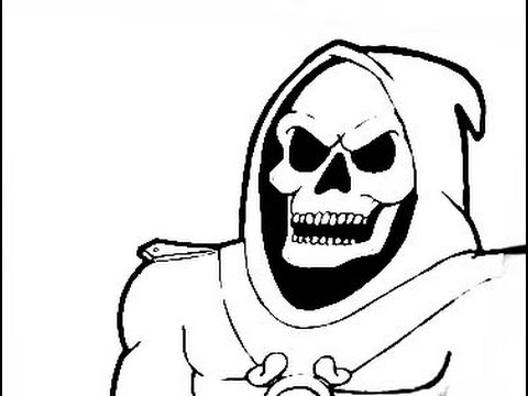 480x360 How To Draw A Skull (Skeletor) Character