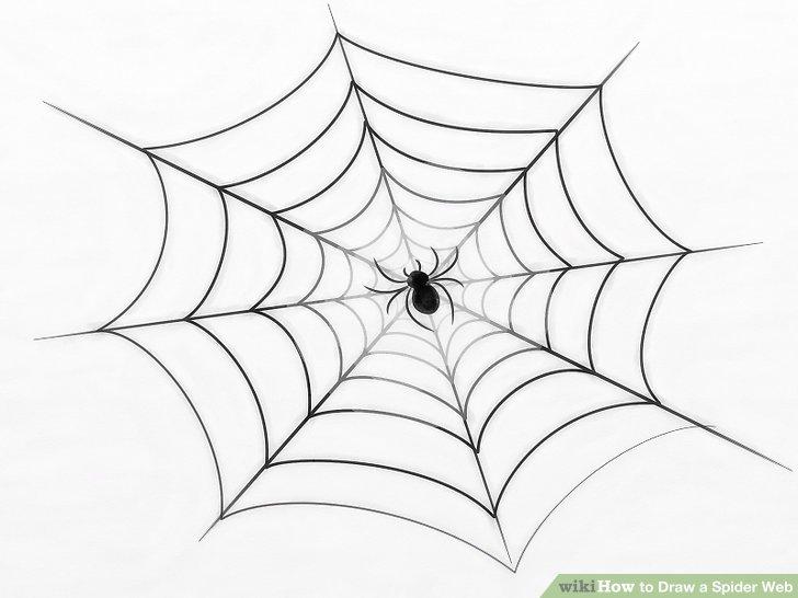 728x546 3 Ways To Draw A Spider Web