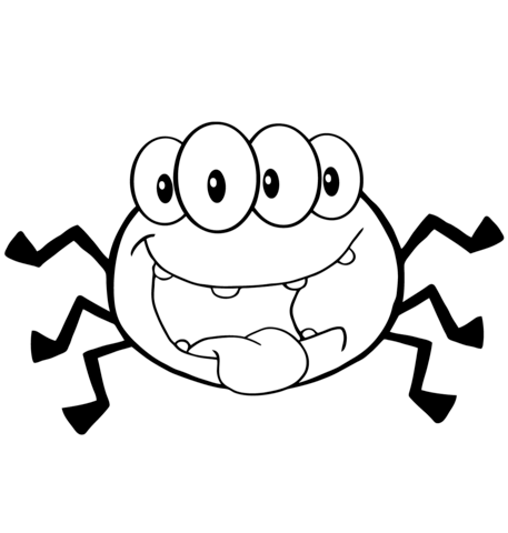 457x480 Happy Cartoon Spider Coloring Page Free Printable Coloring Pages