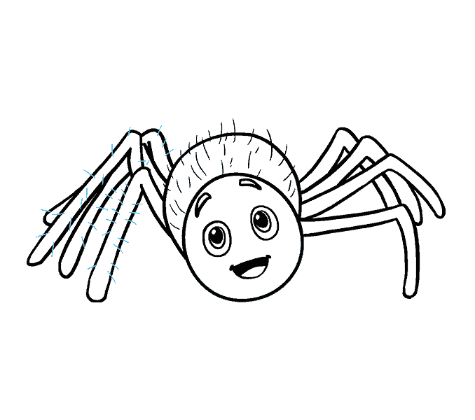 678x600 How To Draw A Cartoon Spider In A Few Easy Steps Easy Drawing Guides
