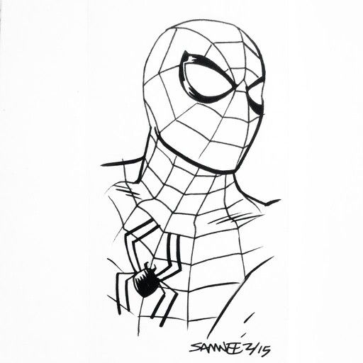 Cartoon Spiderman Drawing
