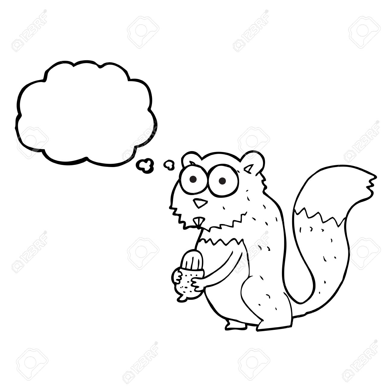 1300x1300 Drawn Squirrel Angry
