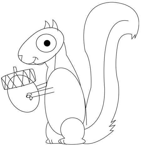 450x468 How To Draw Cartoon Squirrels In Simple Steps Drawing Tutorial
