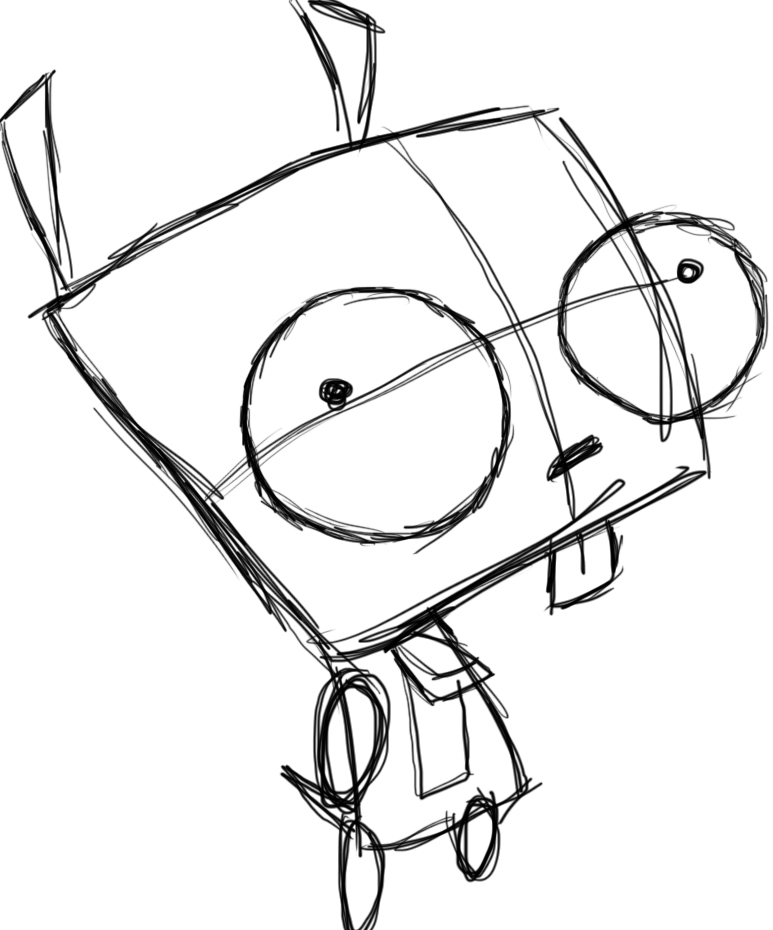 773x930 Gir Invader Zim Drawings Weird Comic Drawings