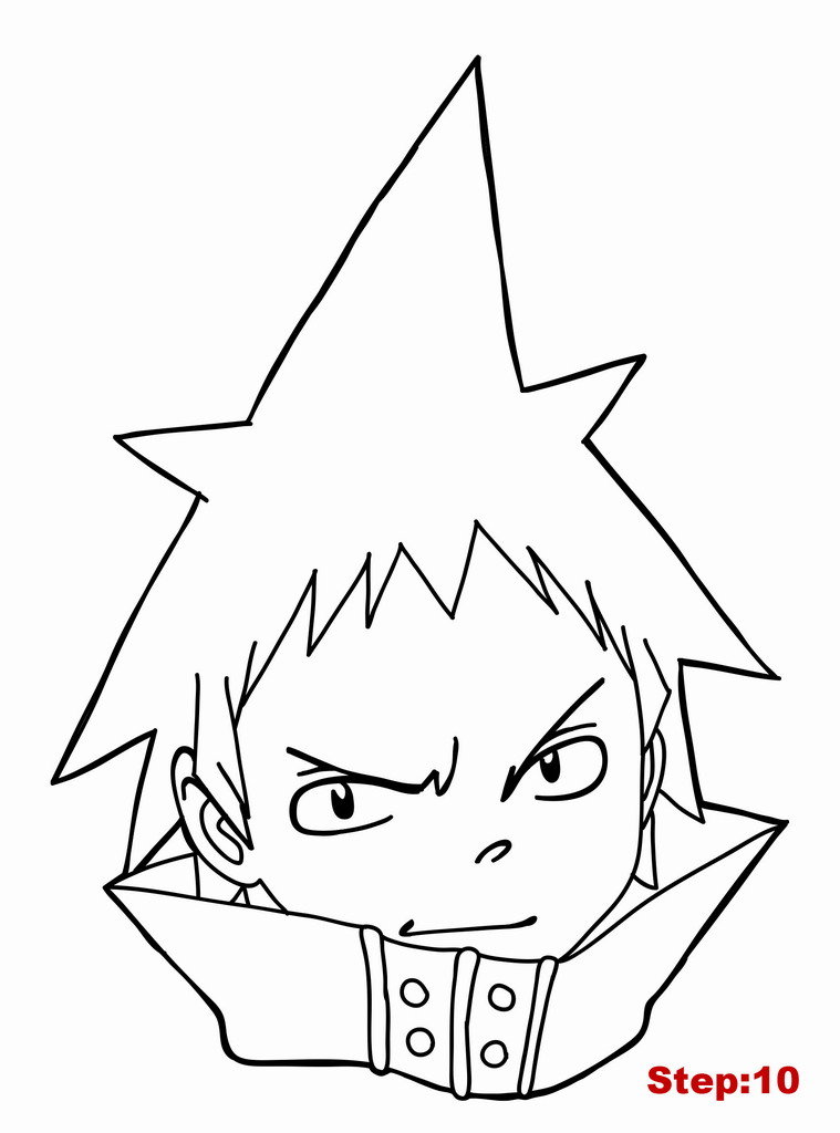 759x1024 How To Draw Black Star From Soul Eater