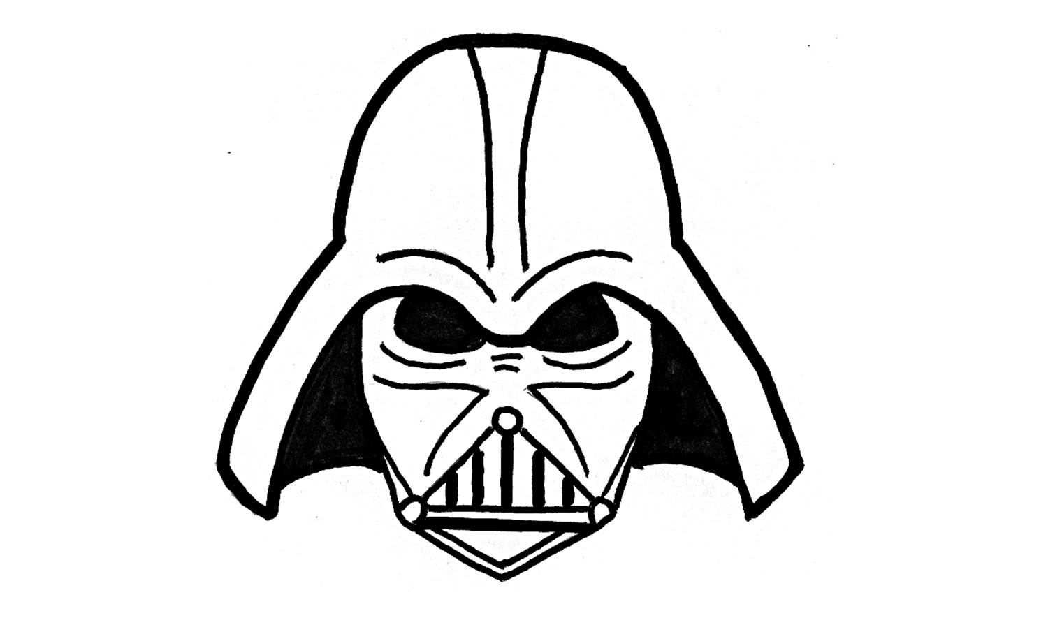 1500x885 How To Draw Darth Vader From Star Wars
