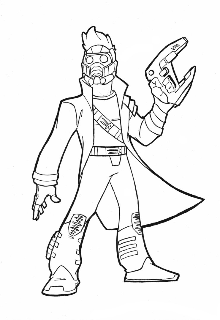741x1077 Star Lord Cartoon By Plastikpulse