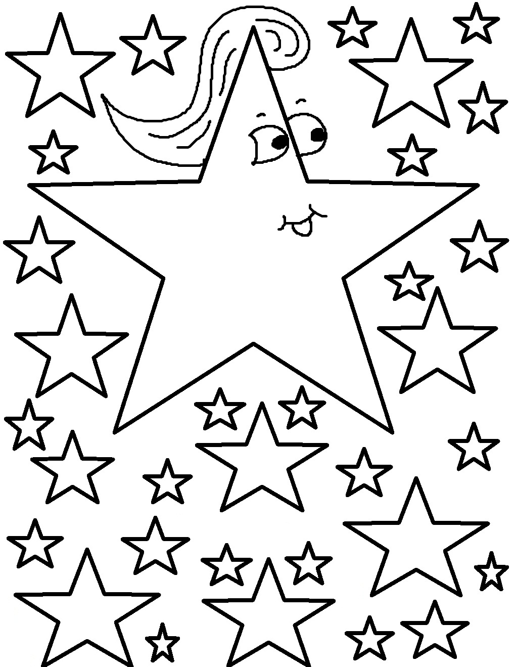 1019x1319 Stars Coloring Pages