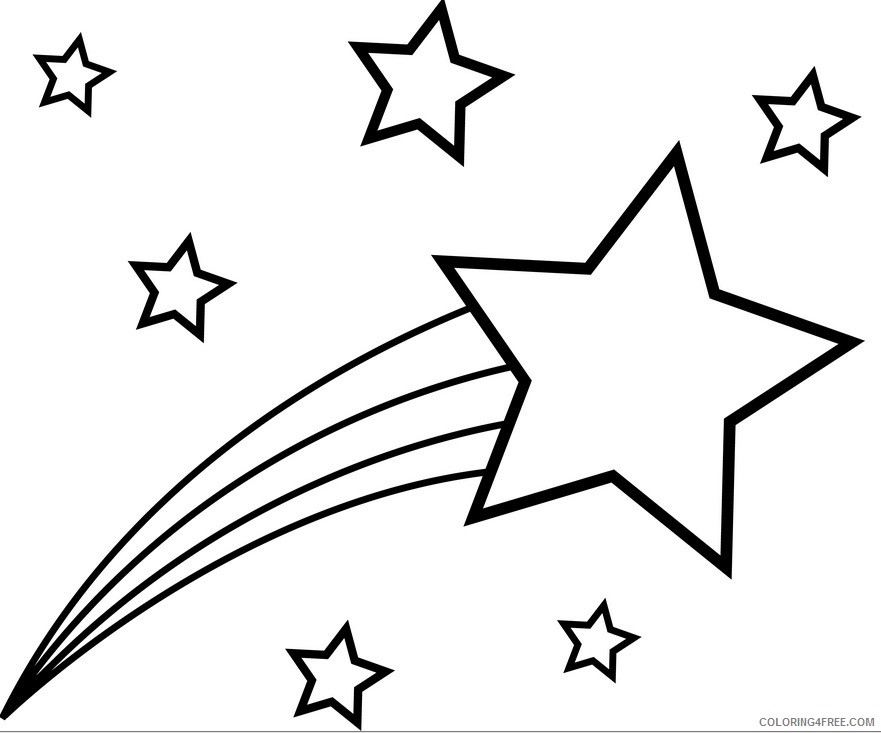 881x733 Cartoon Star Coloring Pages Coloring4free