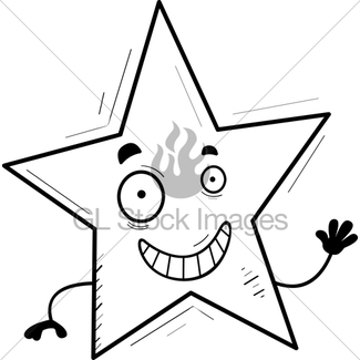 325x325 Cartoon Star Smiling Gl Stock Images