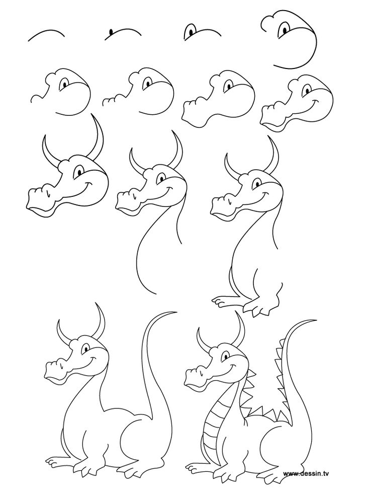 Cartoon Step By Step Drawing