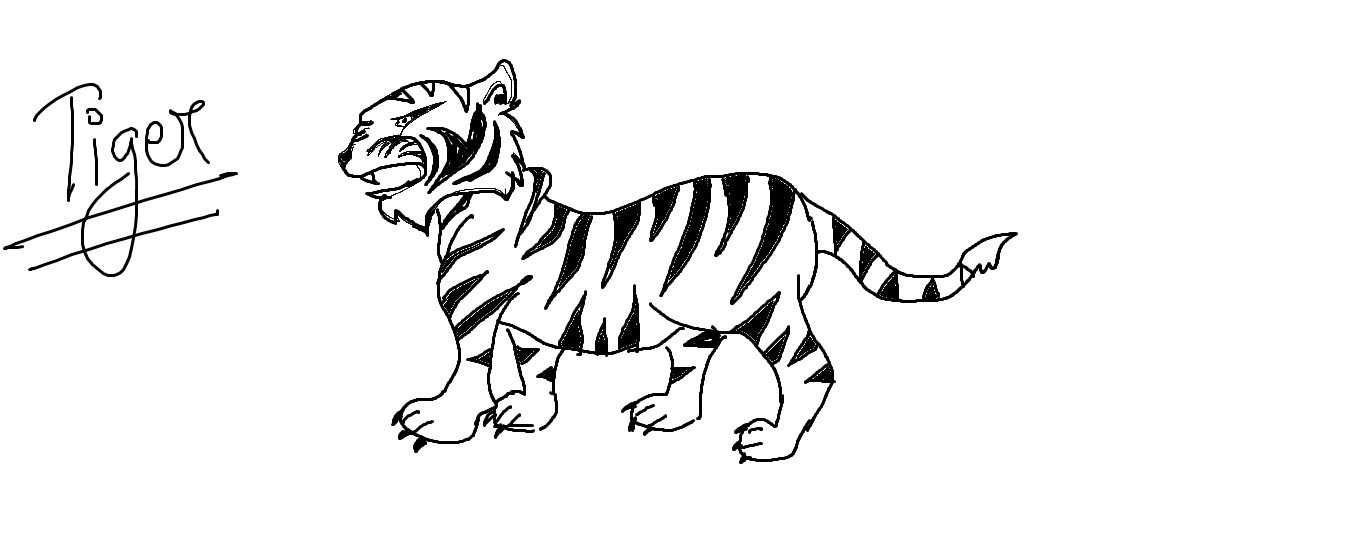 1359x540 Easy Kids Drawing Lessons How To Draw A Cartoon Tiger