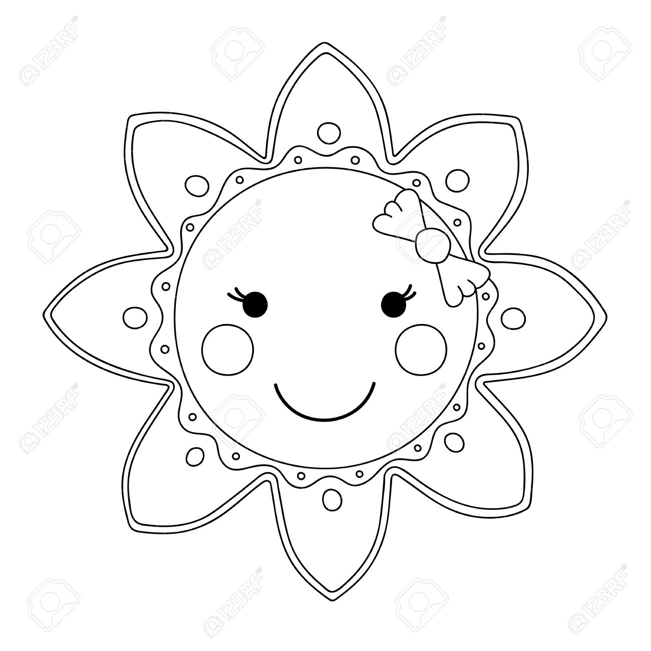 Cartoon Sun Drawing