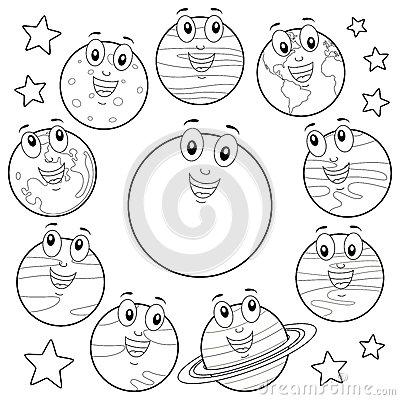 400x400 Drawn Planets Sun Moon