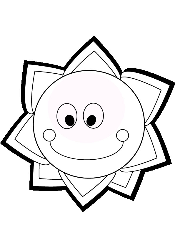 595x842 Smiling Sun Coloring Pages Download