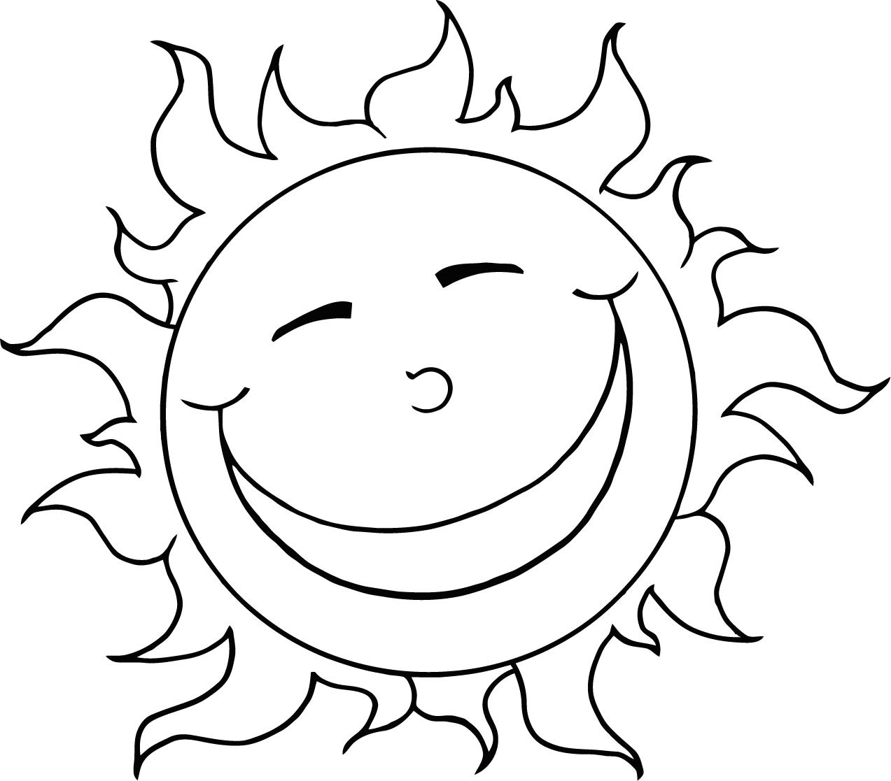 1273x1117 Sun Picture For Kids Coloring To Print