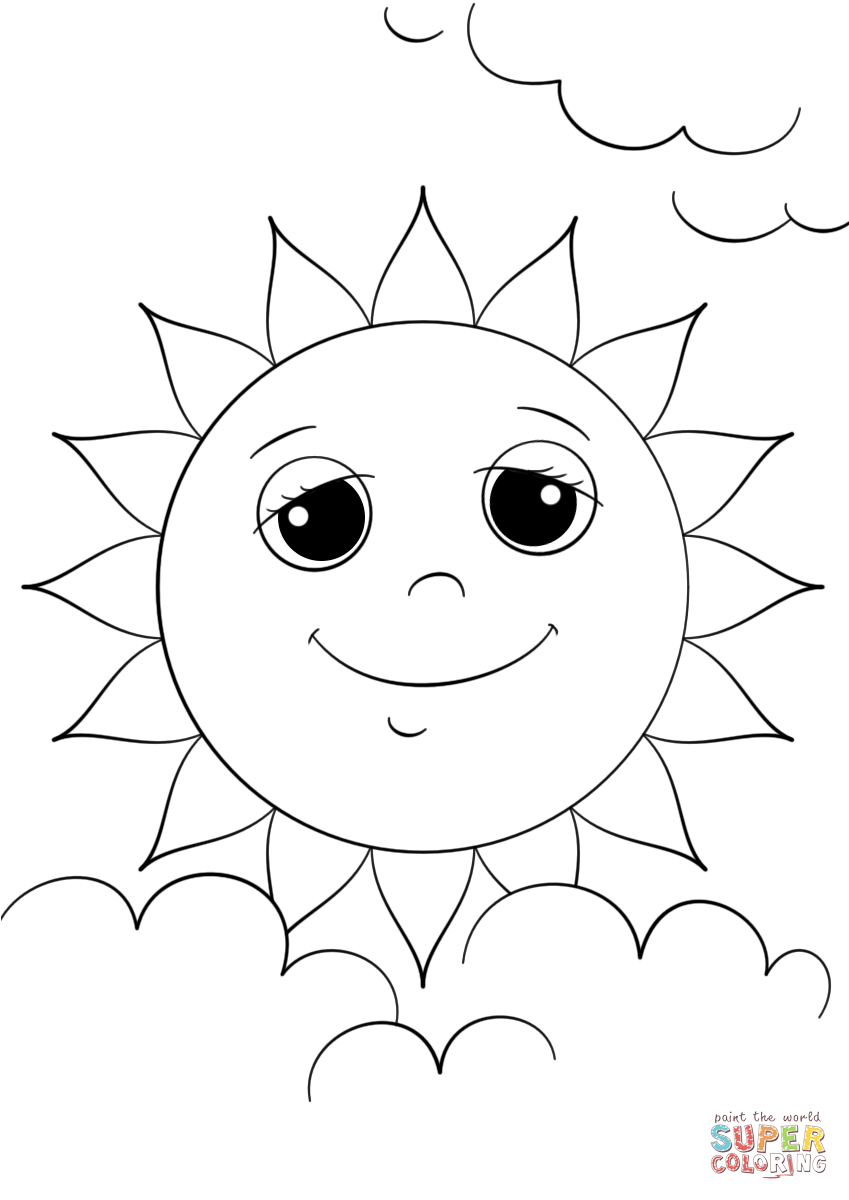 849x1200 Cartoon Sun Character Coloring Page Free Printable Coloring Pages
