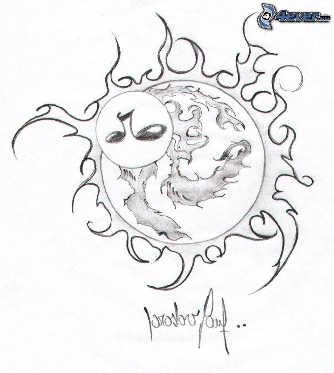 674x753 Cartoon Sun