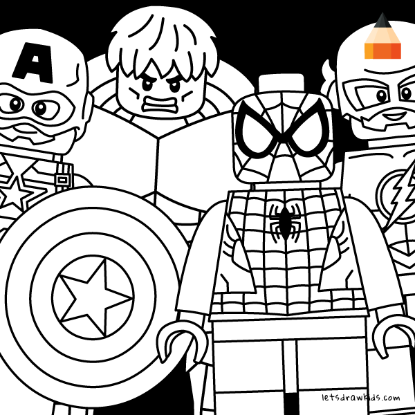 600x600 How To Draw Lego Avengers Minifigures