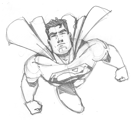 569x500 Easy Superman Drawings Sketches Superman Quick Sketch By Nose
