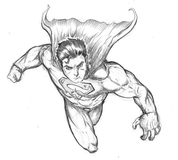 600x540 Generic Superman Sketch By Spacehater