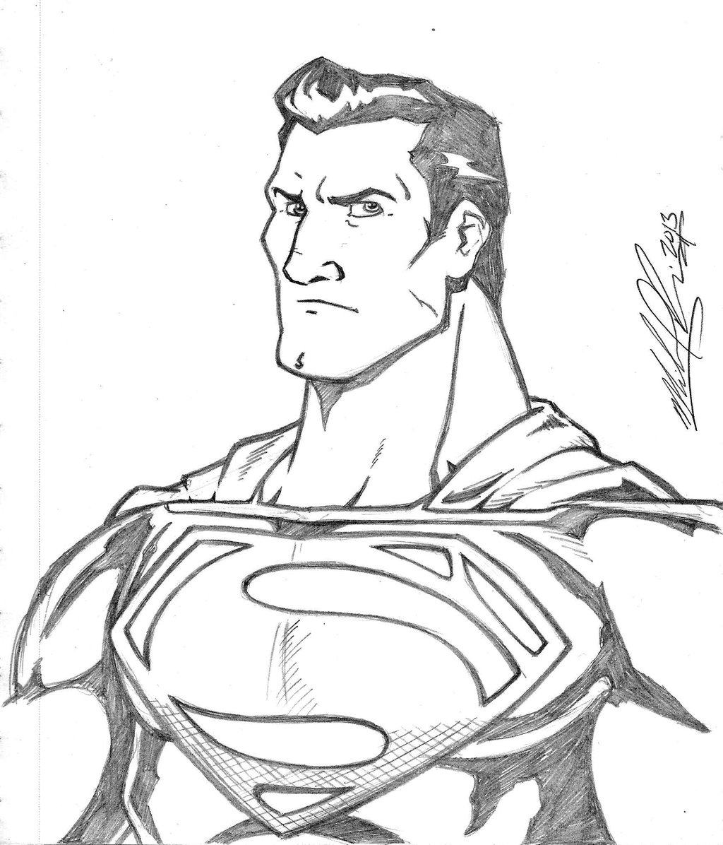 1024x1196 Man Of Steel Pencil Sketch By Mikereisner