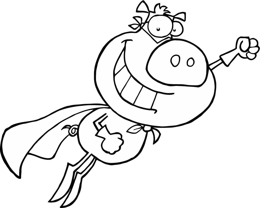 1070x857 Coloring Page Of Cartoon Superman For Preschoolers