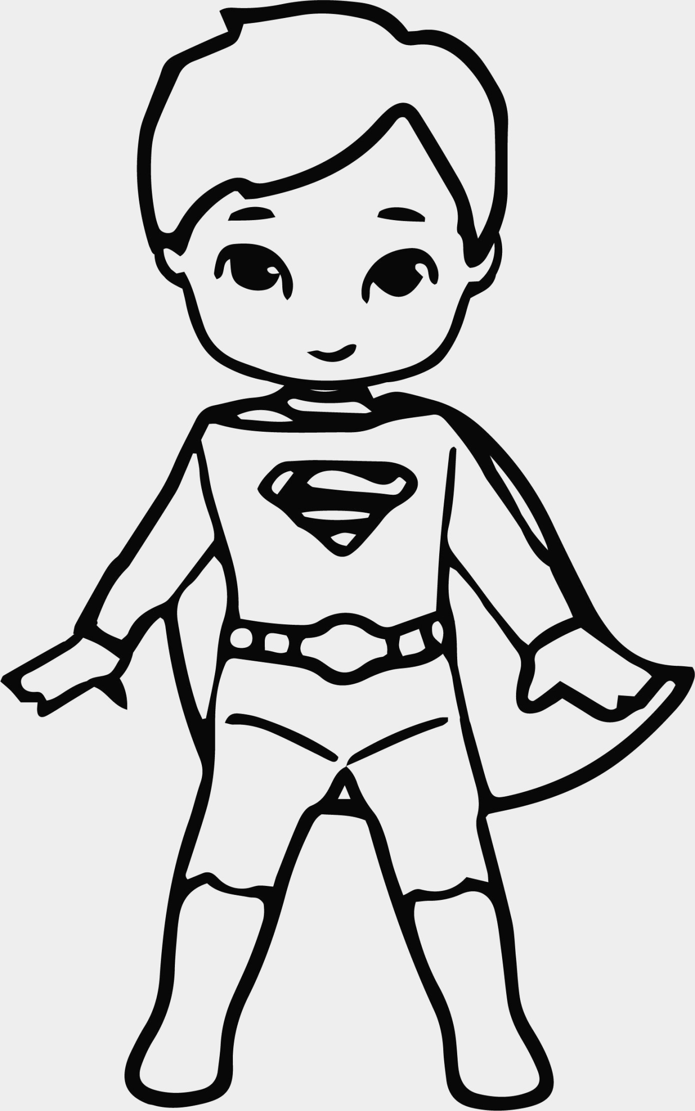 1391x2221 Beautiful Superman Cartoon Coloring Pages