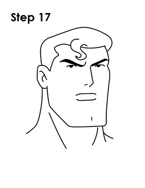 300x388 Draw Superman Step 17 Crafts Cartoon Drawing