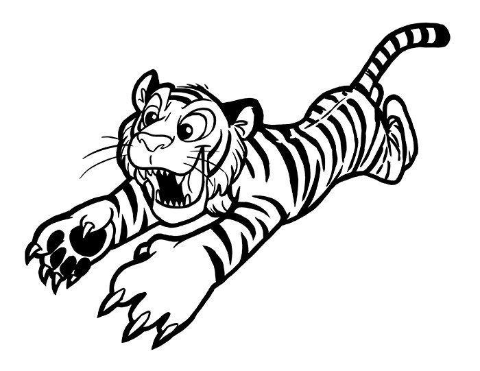 Cartoon Tiger Drawing
