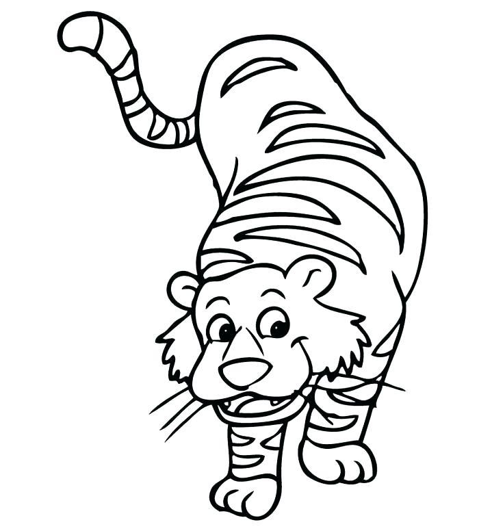 700x776 Cute Tiger Coloring Pages Cartoon Cute Tiger Coloring Page Vector