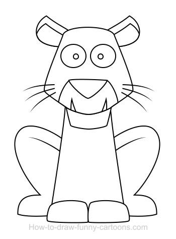 350x474 Drawing A Tiger Cartoon