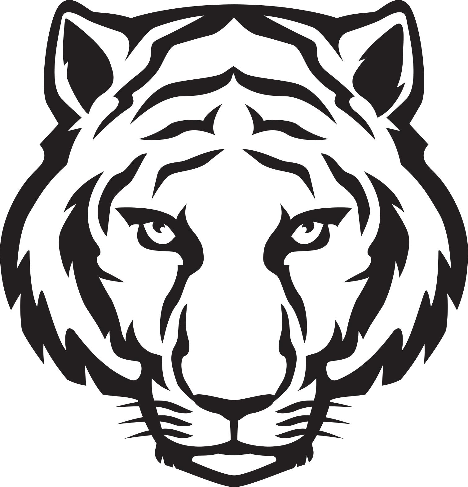 1510x1571 Tiger Cartoon Drawing Cartoon Tiger Face Drawing
